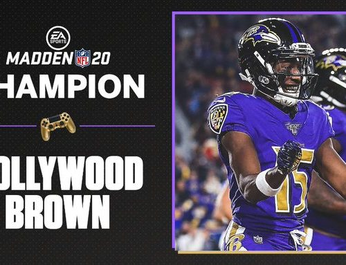 Marquise Brown won the Madden NFL 20 Tourney Championship in the ESPN Finale
