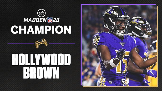 Marquise Brown won the Madden NFL 20 Tourney Championship
